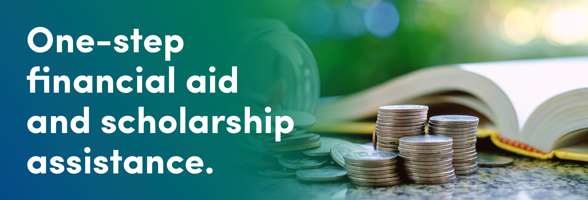 One-step financial aid and scholarship assistance