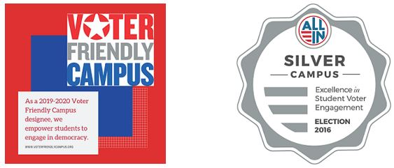 Voter Friendly Silver Campus Logos