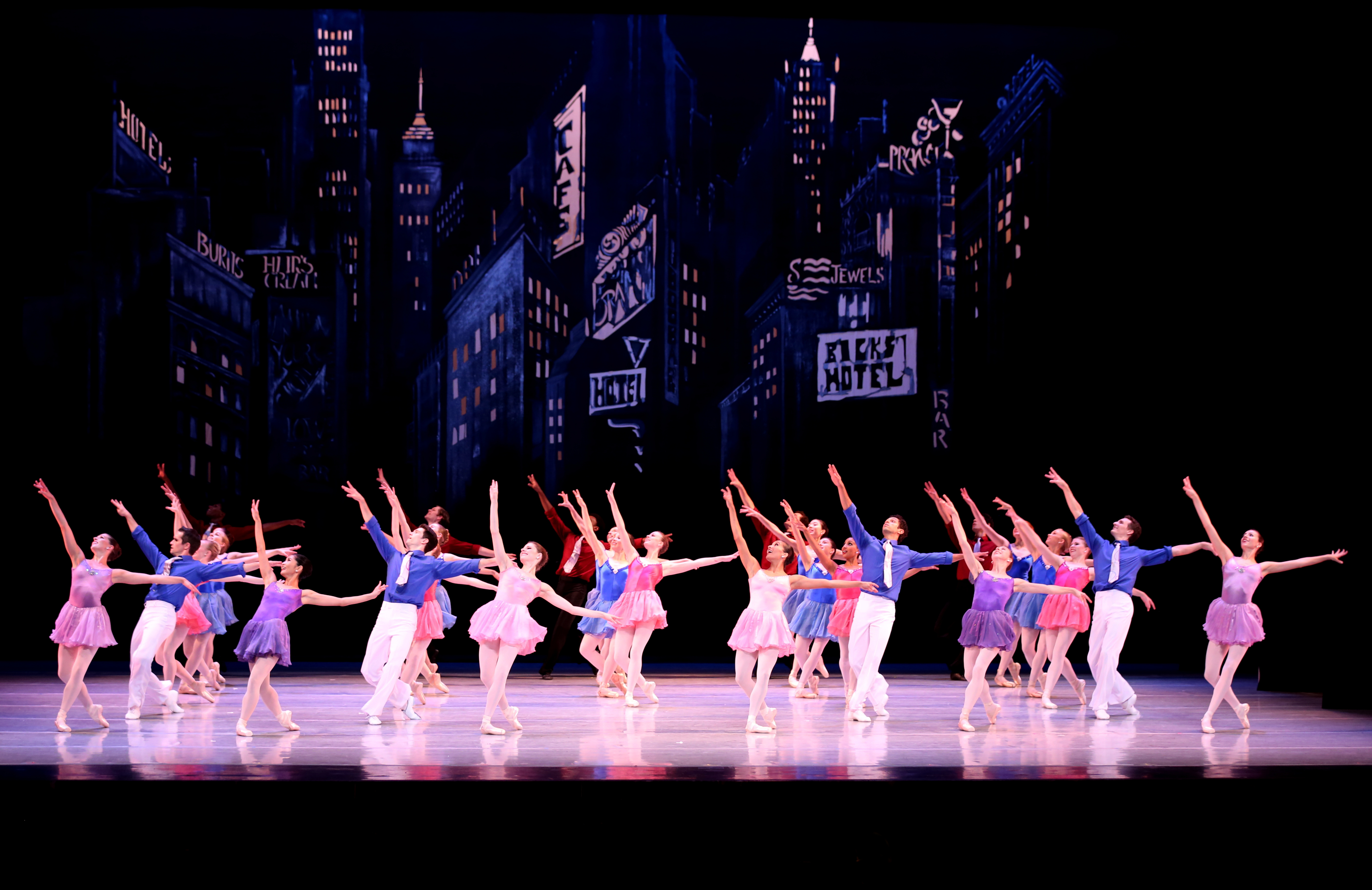 Richmond Ballet dancers on stage