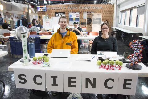 Science Club table at PVCC Club Day