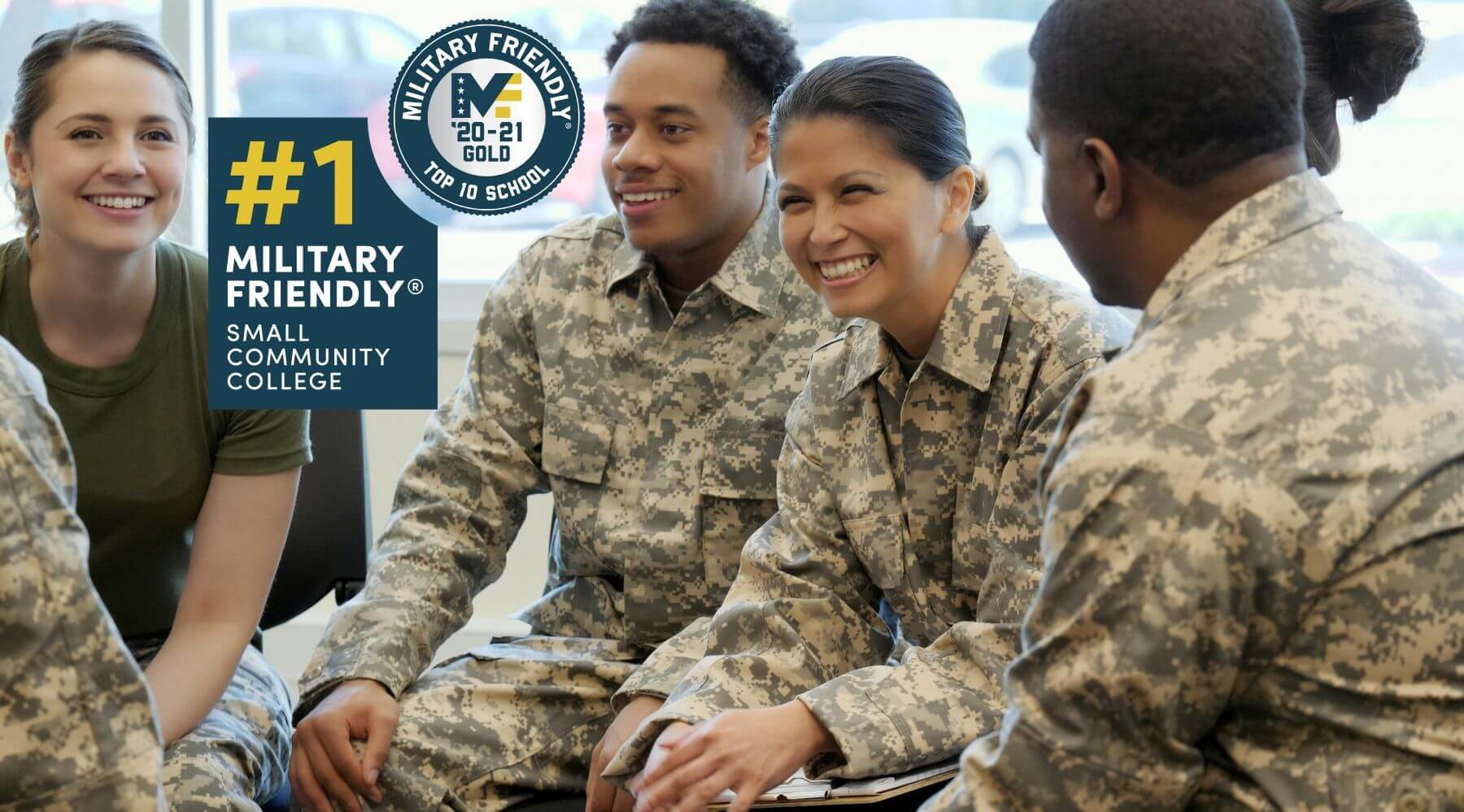 PVCC Military Friendly School Top Ten Number One Small Community College