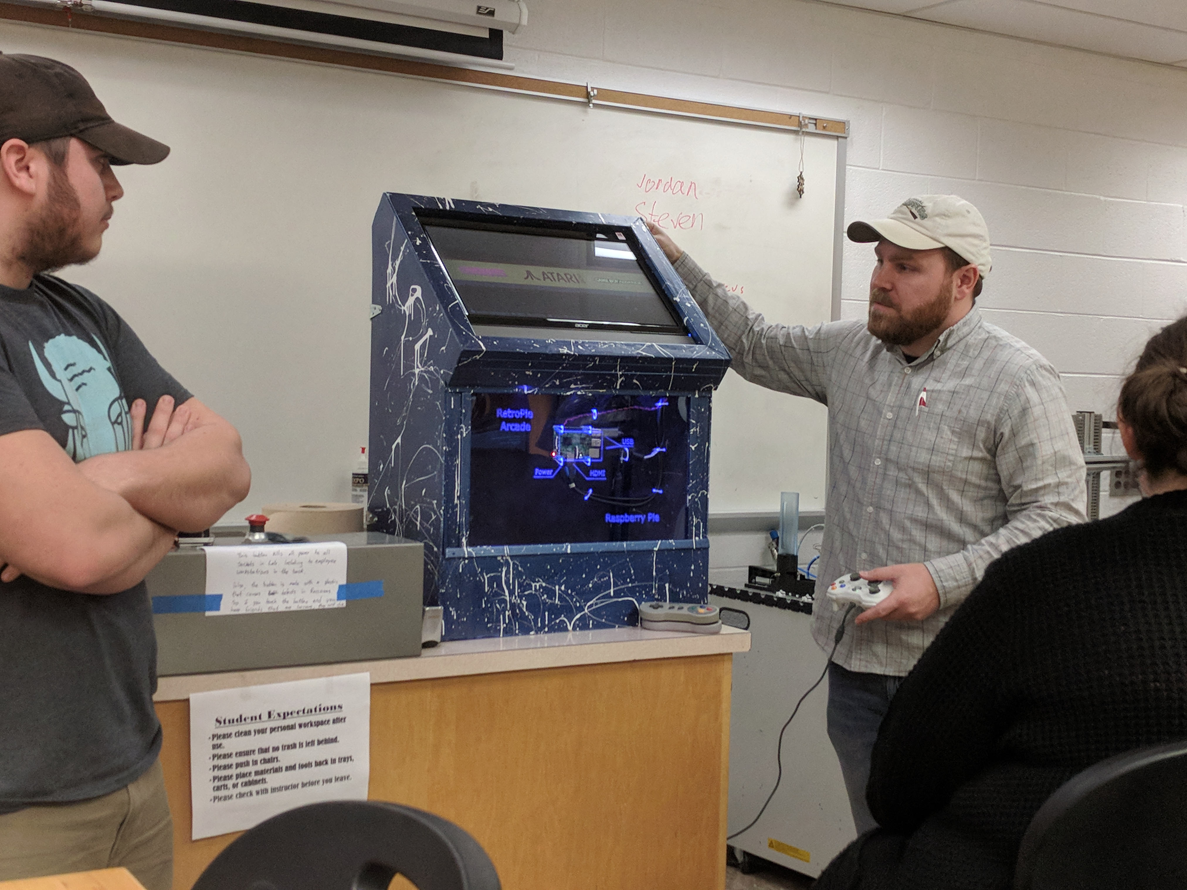 Students Show off a Game Arcade